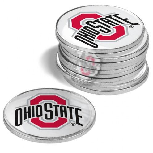 Ohio State Buckeyes 12-Pack Golf Ball Markers