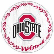 "Ohio State Buckeyes 12"" Welcome Circle Sign"