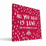 """Ohio State Buckeyes 12"""" x 12"""" All You Need Canvas Print"""
