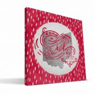 "Ohio State Buckeyes 12"" x 12"" Born a Fan Canvas Print"