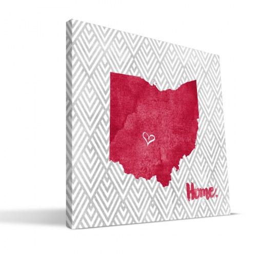 "Ohio State Buckeyes 12"" x 12"" Home Canvas Print"