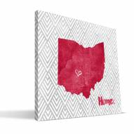 "Ohio State Buckeyes 12"" x 12"" Home Canvas Print"