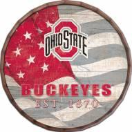 "Ohio State Buckeyes 16"" Flag Barrel Top"