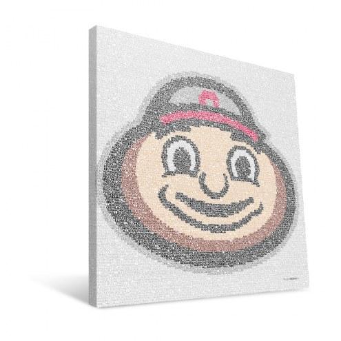 "Ohio State Buckeyes 16"" x 16"" Typo Canvas Print"