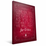 "Ohio State Buckeyes 16"" x 24"" Song Canvas Print"