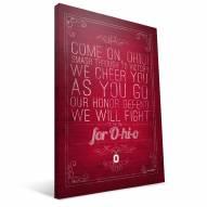 "Ohio State Buckeyes 16"" x 24"" Song Canvas Print"