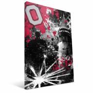 "Ohio State Buckeyes 16"" x 24"" Spirit Canvas Print"