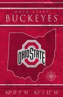 "Ohio State Buckeyes 17"" x 26"" Coordinates Sign"