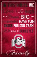 """Ohio State Buckeyes 17"""" x 26"""" In This House Sign"""