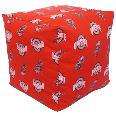 "Ohio State Buckeyes 18"" x 18"" Cube Cushion"