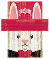 """Ohio State Buckeyes 19"""" x 16"""" Easter Bunny Head"""