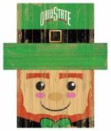 "Ohio State Buckeyes 19"" x 16"" Leprechaun Head"