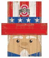 "Ohio State Buckeyes 19"" x 16"" Patriotic Head"
