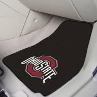 Ohio State Buckeyes 2-Piece Carpet Car Mats