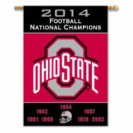 Ohio State Buckeyes 2-Sided Championship Banner