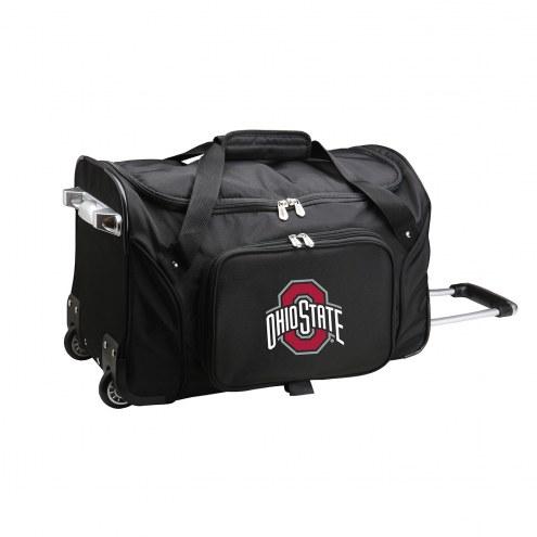 """Ohio State Buckeyes 22"""" Rolling Duffle Bag"""