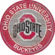 "Ohio State Buckeyes 24"" Heritage Logo Round Sign"