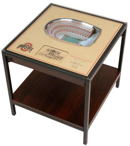 Ohio State Buckeyes 25-Layer StadiumViews Lighted End Table