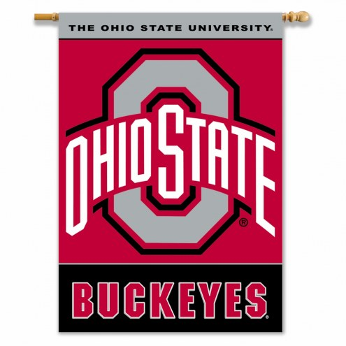 """Ohio State Buckeyes 28"""" x 40"""" Two-Sided Banner"""