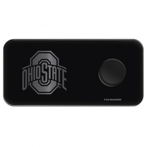 Ohio State Buckeyes 3 in 1 Glass Wireless Charge Pad