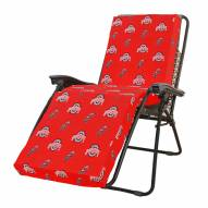 Ohio State Buckeyes 3 Piece Chaise Lounge Chair Cushion