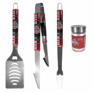 Ohio State Buckeyes 3 Piece Tailgater BBQ Set and Season Shaker