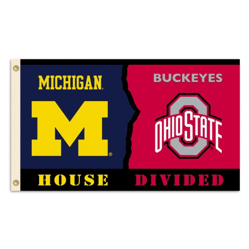 Ohio State Buckeyes 3' x 5' House Divided Flag