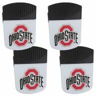 Ohio State Buckeyes 4 Pack Chip Clip Magnet with Bottle Opener