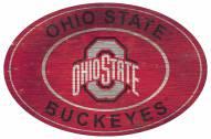 "Ohio State Buckeyes 46"" Heritage Logo Oval Sign"
