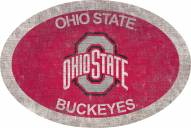 """Ohio State Buckeyes 46"""" Team Color Oval Sign"""