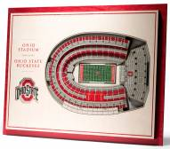 Ohio State Buckeyes 5-Layer StadiumViews 3D Wall Art