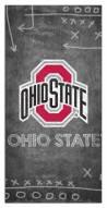 "Ohio State Buckeyes 6"" x 12"" Chalk Playbook Sign"