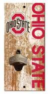 """Ohio State Buckeyes 6"""" x 12"""" Distressed Bottle Opener"""