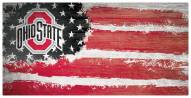 "Ohio State Buckeyes 6"" x 12"" Flag Sign"