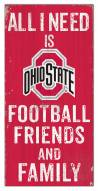 """Ohio State Buckeyes 6"""" x 12"""" Friends & Family Sign"""