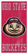 "Ohio State Buckeyes 6"" x 12"" Heritage Logo Sign"