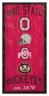 "Ohio State Buckeyes 6"" x 12"" Heritage Sign"