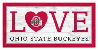 "Ohio State Buckeyes 6"" x 12"" Love Sign"