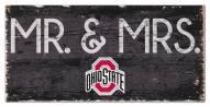 "Ohio State Buckeyes 6"" x 12"" Mr. & Mrs. Sign"