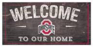 "Ohio State Buckeyes 6"" x 12"" Welcome Sign"