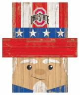 "Ohio State Buckeyes 6"" x 5"" Patriotic Head"