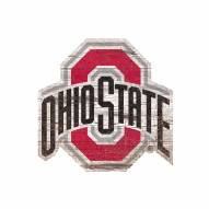 "Ohio State Buckeyes 8"" Team Logo Cutout Sign"