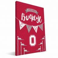 "Ohio State Buckeyes 8"" x 12"" Little Man Canvas Print"