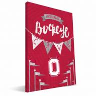 "Ohio State Buckeyes 8"" x 12"" Little Man Canvas Print"