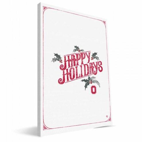"Ohio State Buckeyes 8"" x 12"" Merry Little Christmas Canvas Print"