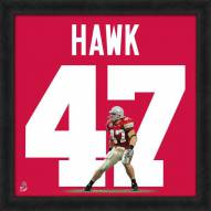 Ohio State Buckeyes A.J. Hawk Uniframe Framed Jersey Photo