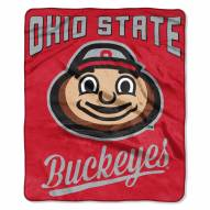 Ohio State Buckeyes Alumni Raschel Throw Blanket