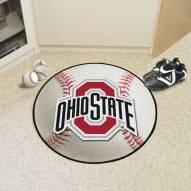 Ohio State Buckeyes Baseball Rug