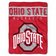 Ohio State Buckeyes Basic Raschel Blanket