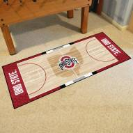 Ohio State Buckeyes Basketball Court Runner Rug